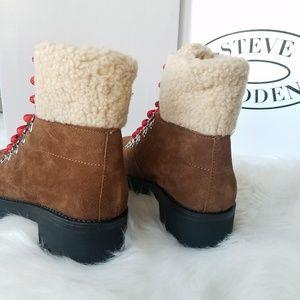 e01a888594fd3 Steve Madden Shoes - Steve Madden Bitter Faux Shearling Trim Boots